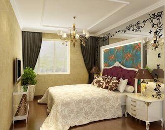 富裕型120平米三室两厅欧式风格卧室效果图
