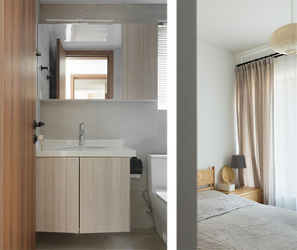 富裕型120平米三室一厅日式风格卫生间装修效果图