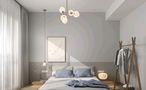 三室一厅北欧风格卧室装修效果图