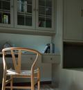 经济型110平米三北欧风格书房图片