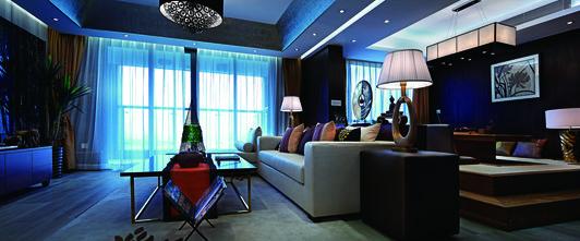 3万以下110平米三室一厅东南亚风格客厅图片大全