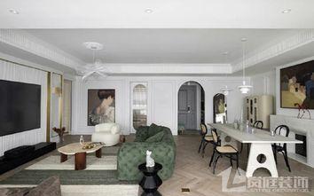 豪华型130平米三室两厅法式风格客厅装修案例