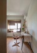 经济型140平米三室两厅日式风格书房图片
