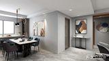 110平米三室一厅混搭风格餐厅效果图
