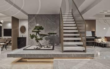 140平米三轻奢风格楼梯间图片