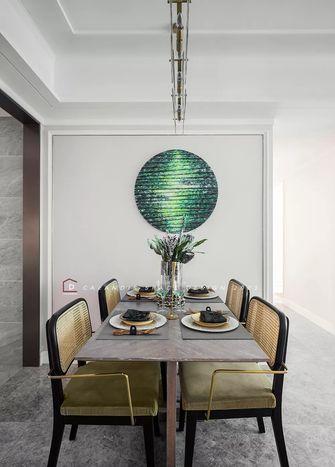 富裕型110平米三室两厅法式风格餐厅装修图片大全