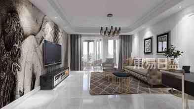 20万以上100平米三美式风格客厅图片大全