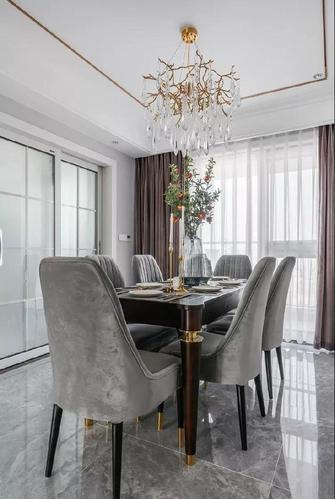 20万以上140平米三室一厅美式风格餐厅装修图片大全