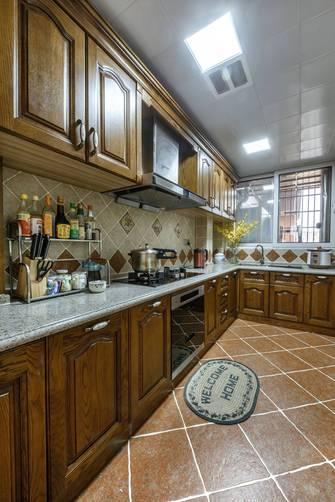 富裕型140平米四室一厅地中海风格厨房图片
