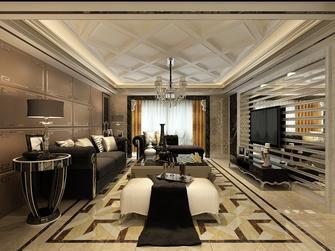 富裕型140平米三室两厅欧式风格客厅欣赏图