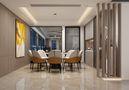 140平米四室一厅美式风格餐厅图片