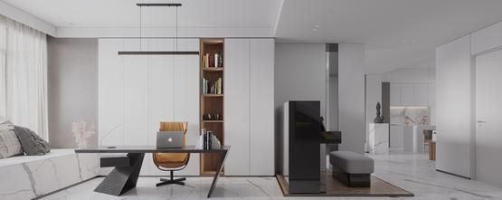 富裕型90平米一室一厅现代简约风格书房图片大全