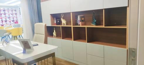 110平米美式风格书房效果图