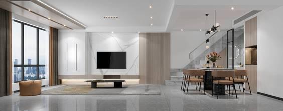 20万以上120平米三室两厅田园风格客厅欣赏图