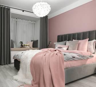 富裕型140平米一室一厅北欧风格卧室欣赏图