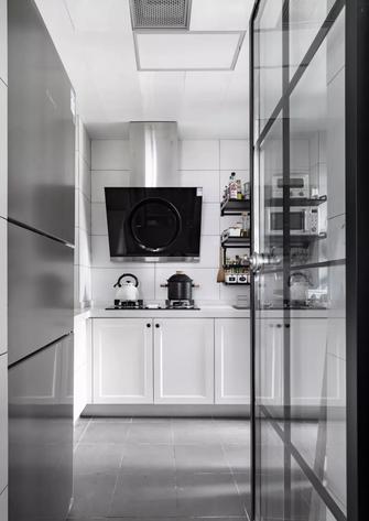 富裕型80平米三室两厅北欧风格厨房图片大全