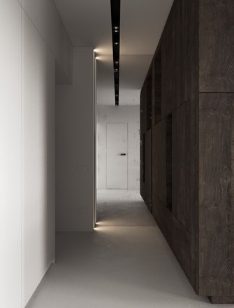 富裕型100平米三现代简约风格走廊设计图