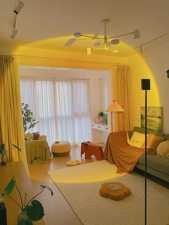 60平米一室一厅田园风格客厅设计图