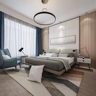 富裕型100平米三室一厅现代简约风格卧室效果图