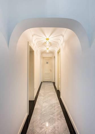 豪华型140平米三室一厅新古典风格走廊装修案例