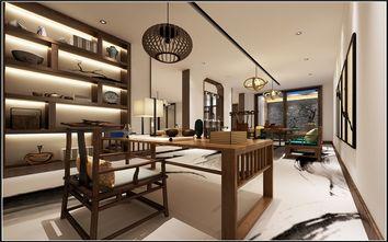 富裕型140平米三室三厅中式风格书房图片