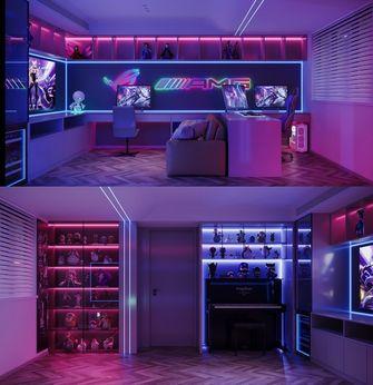 豪华型110平米三室两厅轻奢风格影音室装修效果图