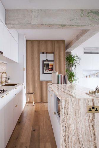 富裕型110平米三室两厅田园风格厨房设计图