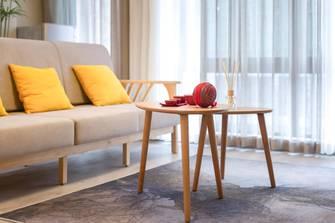 富裕型80平米一居室日式风格客厅图