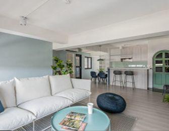 5-10万50平米公寓混搭风格客厅图