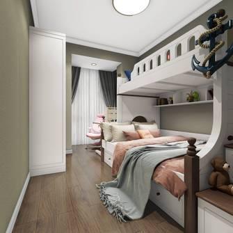 10-15万90平米三室一厅美式风格青少年房设计图