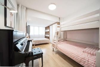 富裕型80平米三室一厅北欧风格青少年房图片大全