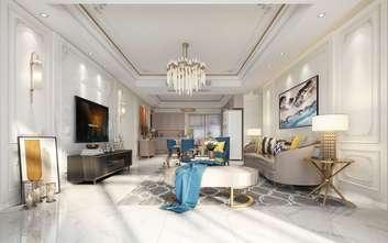 5-10万110平米三室两厅法式风格客厅欣赏图