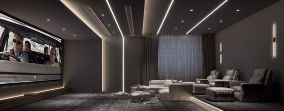 20万以上140平米三室两厅中式风格影音室图片大全