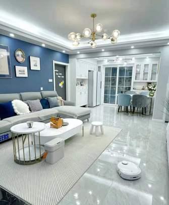 经济型80平米一室一厅欧式风格客厅图