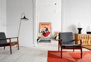 3万以下110平米三室一厅现代简约风格客厅设计图