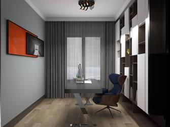 100平米三室两厅轻奢风格书房装修案例