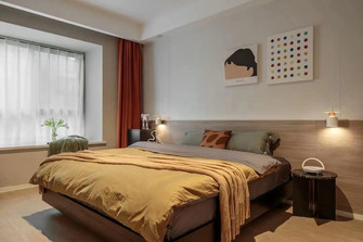 50平米现代简约风格卧室图