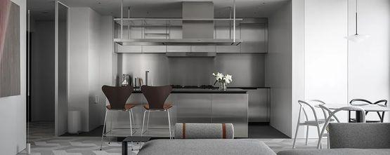90平米工业风风格厨房欣赏图