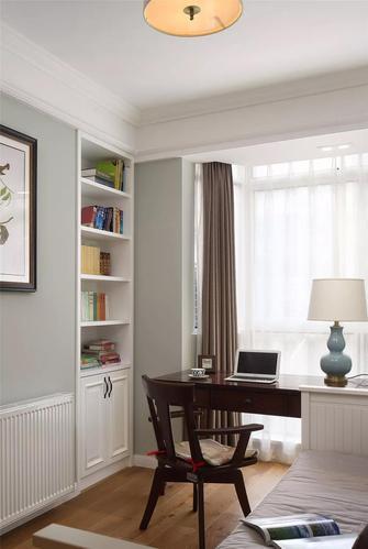 5-10万130平米三室一厅美式风格书房图片