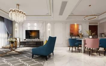 5-10万110平米三室两厅法式风格客厅装修案例