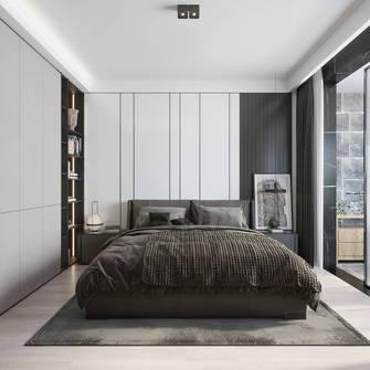 140平米四室两厅工业风风格卧室欣赏图