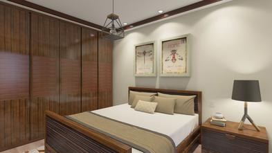 富裕型60平米东南亚风格卧室图
