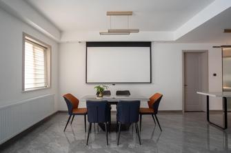 130平米三室两厅现代简约风格影音室图