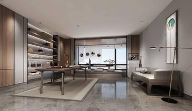 富裕型三室两厅欧式风格书房装修案例