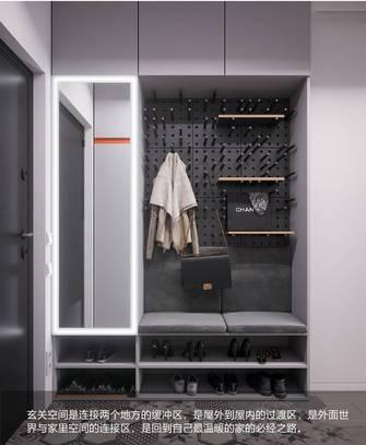 15-20万90平米三室两厅北欧风格玄关装修效果图