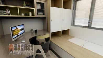 经济型110平米四室两厅现代简约风格书房图片