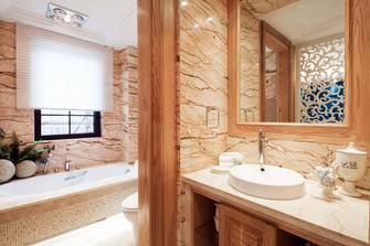 3万以下140平米三室一厅田园风格卫生间设计图