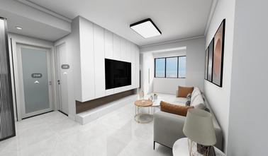 富裕型80平米三室两厅北欧风格客厅图片大全