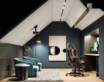 豪华型140平米复式现代简约风格阁楼装修效果图