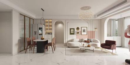 15-20万120平米三室两厅法式风格客厅装修效果图